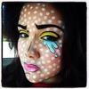 Pop art makeup Halloween