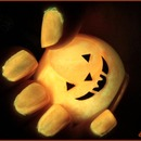 Orange Glow in the Dark pumpkin polish!