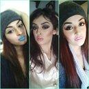 Blue, Orange & pink Lips