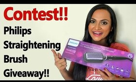 Contest!! Philips Straightening Brush Giveaway !!