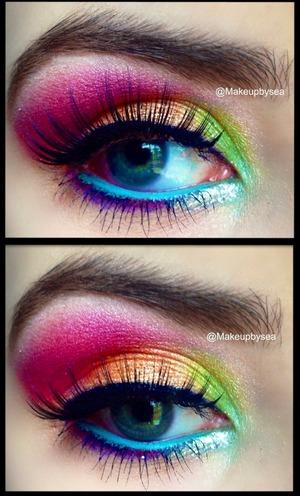 Did this look for a summertime makeup contest!