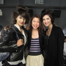 Me with models backstage at Catherine Malandrino (CG in Embrace)