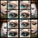 Teal and Gold pictorial