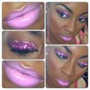 pink glitter, pink lips :)