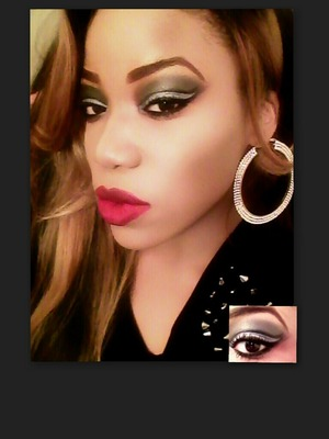 Not your Classic Smokey Eye w/ Red lip with a hint of Oxblood!