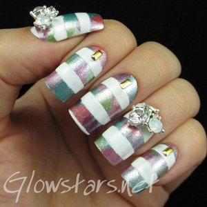 Read the blog post at http://glowstars.net/lacquer-obsession/2015/02/striped-metallic-pastels/