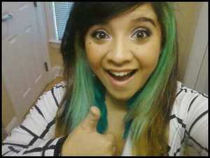 Decided to dye my hair mint green for Spring! :D