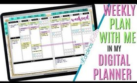 Setting up Weekly Digital Plan With Me March 23 to March 29 PROCESS, Plan With Me Process Video