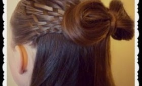 Woven Half Up Hairstyle With Hair Bow, Hair4myprincess