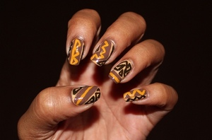Celebrate the emancipation of slavery with me! Inspired by African prints http://chinadolltt.blogspot.com/2012/08/emancipation-day-nails.html