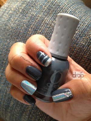 A little fun with holographic nail polish