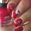 Romantic Nails with Sally Hansen Aria Red-y