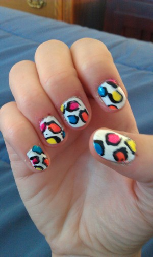 my 80's/candy inspired nail art :)