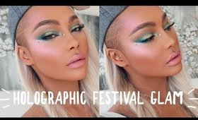 HOLOGRAPHIC FESTIVAL GLAM MAKEUP TUTORIAL | SONJDRADELUXE