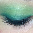 Green eye makeup :)