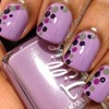 Purple with polka dots