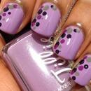 Purple with polka dots