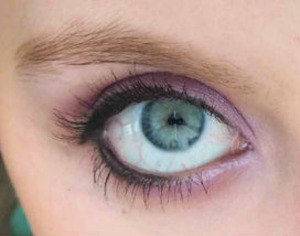 I did this sultry purple look with some intense liner the other day.