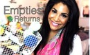 Empties & Returns ♥ Products I've Used Up & Will I Repurchase? ♥ Spring 2013