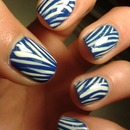Blue Zebra Nails!
