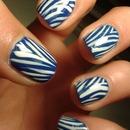 Blue Zebra Nails!