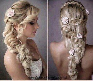 a nice elegant  fairy like hair style for formal or a wedding
