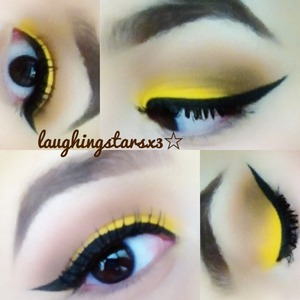 Closer look at my bumble bee eyes!