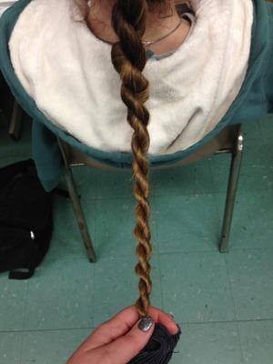 Love my friends super long hair!