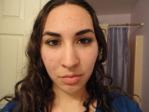 I used a Maybelline eye shadow trio called Ivy League, Revlon Colorstay eyeliner in gray and brown, and Maybelline's Full 'n' Soft waterproof mascara in Very Black.
