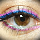 bright colorful eye
