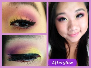 Nell - Afterglow Here's my next look! :D I wish I had better quality makeup so it'll be more vibrant (>.<) but its okay I think it is very wearable (for me anyways lol)  hope you guys like it!! ^^