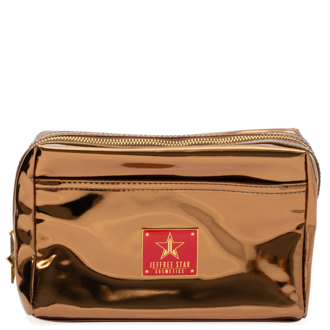 Jeffree Star Cosmetics Reflective Makeup Bag Copper