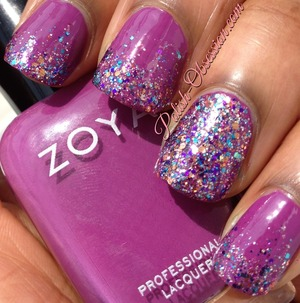 Layered over Zoya Keiko http://www.polish-obsession.com/2013/07/busy-girls-summer-nail-art-challenge.html