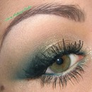 Green Christmas make-up tutorial