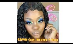 GRWM Skin, Fun Makeup & Hair