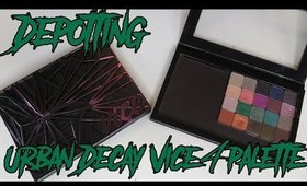DEPOTTING the Urban Decay Vice 4 Palette!!