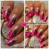 Pink Nail Art Design Tutorial - Tattoo, Fire Element