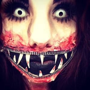 Zipper mouth Halloween costume
