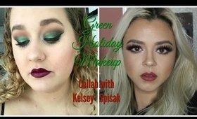 #GreenHolidayMakeup Collab with Kelsey Spisak   Beauty by Pinky