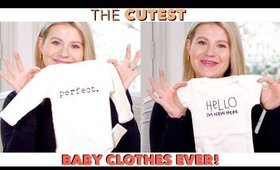 The CUTEST Baby Clothes - First Baby Haul 👶🏼