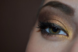 more:http://xoxopatty.blogspot.sk/2012/12/gold-bronze-makeup.html