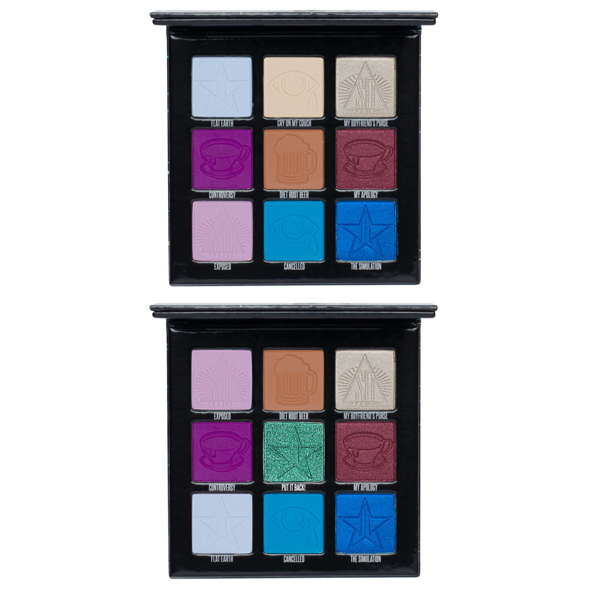 Jeffree Star Cosmetics Mini Controversy & Mini Controversy Emerald Edition Palette Bundle alternative view 1 - product swatch.