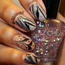 Glittery Nude Water Marble! 2