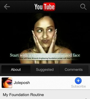 Just uploaded my foundation routine video onto my YouTube channel! YouTube.com/Joleposh