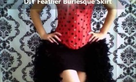 DIY Burlesque Feather Skirt