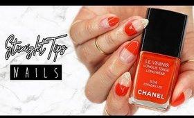 Straight Tips Nails | Minimal Nail Art ♡