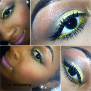 I love yellow eyeshadow!   Join me on Instagram @muashaleena