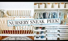 BABY BOY'S NURSERY + CLOSET SNEAK PEEK! | Kendra Atkins