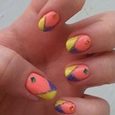 Bright Spring manicure