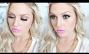 GRWM! ♡ Intense Dramatic Bronze Eyes & Pink Lips! Rihanna Inspired Makeup!